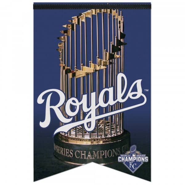 Kansas City Royals 2015 World Series Champions Premium Felt MLB Banner