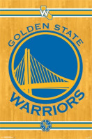 Golden State Warriors Team Logo Basketball NBA Poster