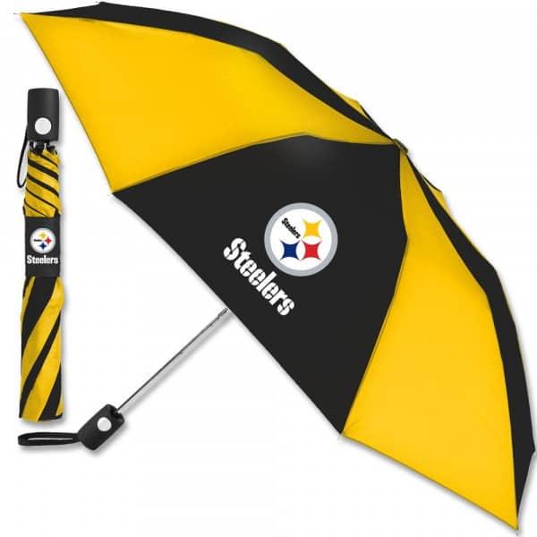 Pittsburgh Steelers NFL Regenschirm (Taschenschirm mit Automatik)