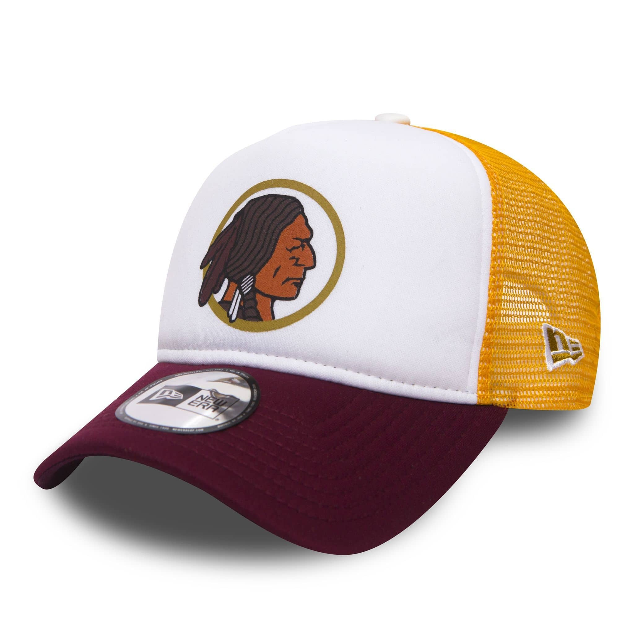 0ab6d5c0 New Era Washington Redskins Throwback Trucker Adjustable NFL Cap |  TAASS.com Fan Shop