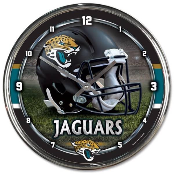 Jacksonville Jaguars Chrome NFL Wanduhr