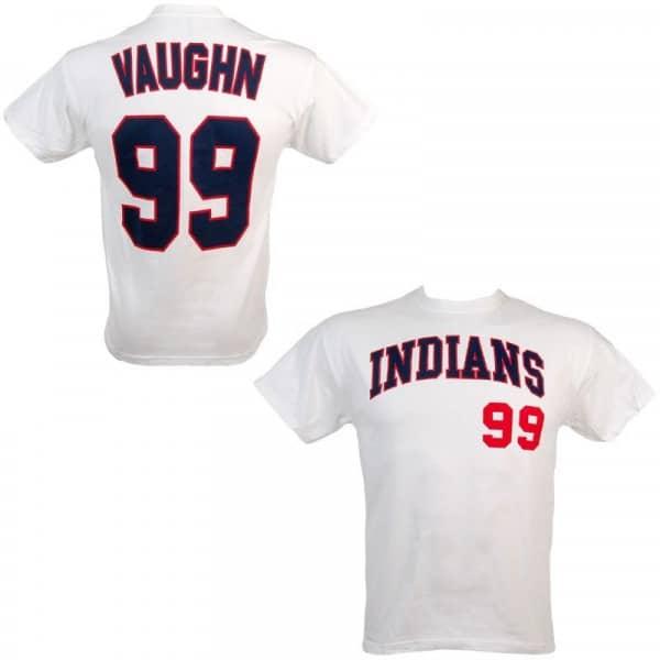 the best attitude a79ce 5c9f5 Major League Cleveland Indians Ricky  Wild Thing  Vaughn  99 Baseball  T-Shirt   TAASS.com Fan Shop