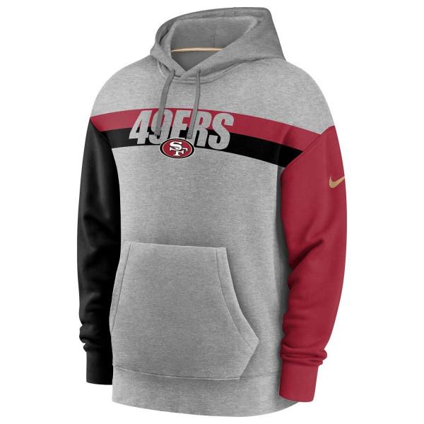 San Francisco 49ers 2020 NFL Wordmark Heritage Nike Tri-Blend Hoodie