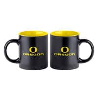 Oregon Ducks Black Matte Jumbo NCAA Becher (415 ml)