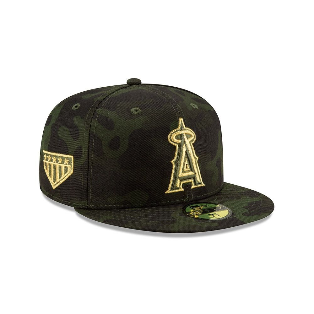 cheap for discount 67f40 8780d New Era Los Angeles Angels 2019 Armed Forces Day On-Field 59FIFTY Fitted  MLB Cap   TAASS.com Fan Shop