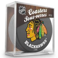 Chicago Blackhawks NHL Eishockey Puck Untersetzer (4er Set)