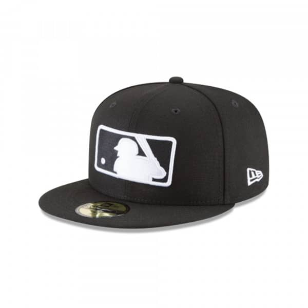 MLB Logo Black & White 59FIFTY Fitted Baseball Cap
