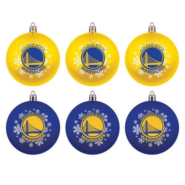 Golden State Warriors NBA Weihnachtskugeln Geschenk-Set (6-Teilig)