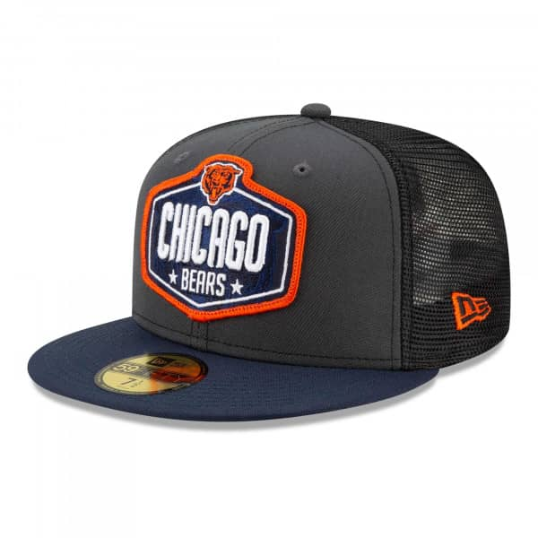 Chicago Bears Official 2021 NFL Draft New Era 59FIFTY Fitted Cap