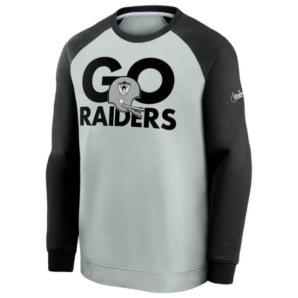 Las Vegas Raiders GO RAIDERS Nike Throwback NFL Crewneck Pullover