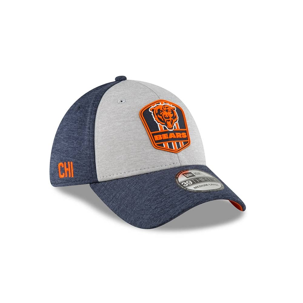 new concept 60b13 a94a2 New Era Chicago Bears 2018 NFL Sideline 39THIRTY Flex Cap Road   TAASS.com  Fan Shop