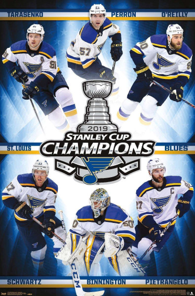 St. Louis Blues 2019 Stanley Cup Champions NHL Poster
