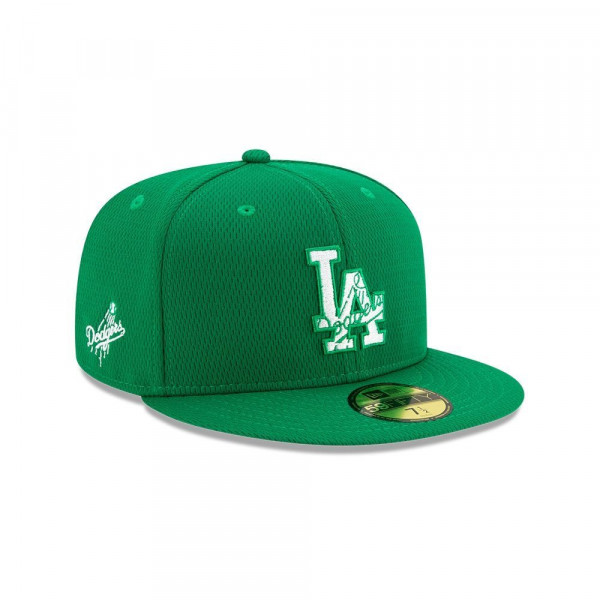 Los Angeles Dodgers 2020 Authentic St. Patrick's Day 59FIFTY Fitted MLB Cap