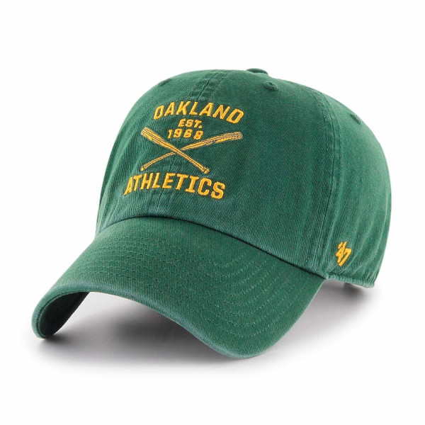4efb3136a5865  47 Brand Oakland Athletics Axis Clean Up MLB Cap Green