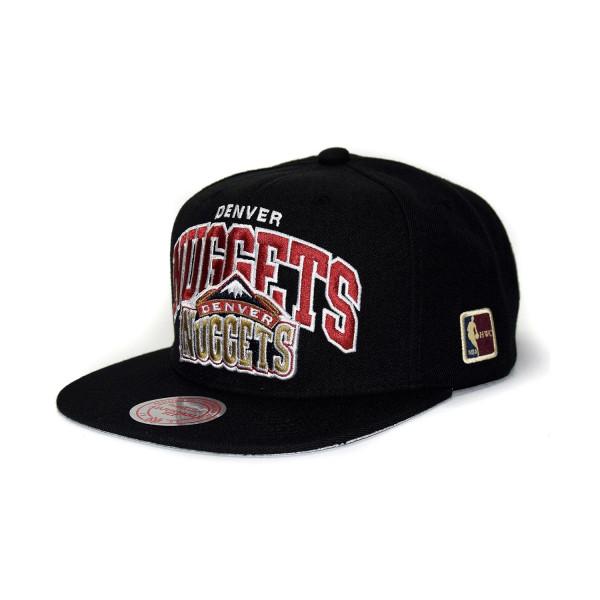 huge selection of f3039 e87bd Mitchell   Ness Denver Nuggets Arch HWC Patch Snapback NBA Cap Black    TAASS.com Fan Shop