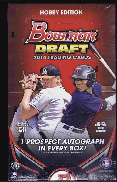 2014 Bowman Draft Picks & Prospects Baseball Hobby Box MLB