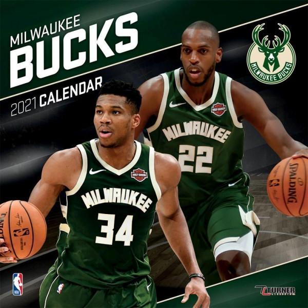 Milwaukee Bucks 2021 Team NBA Wandkalender