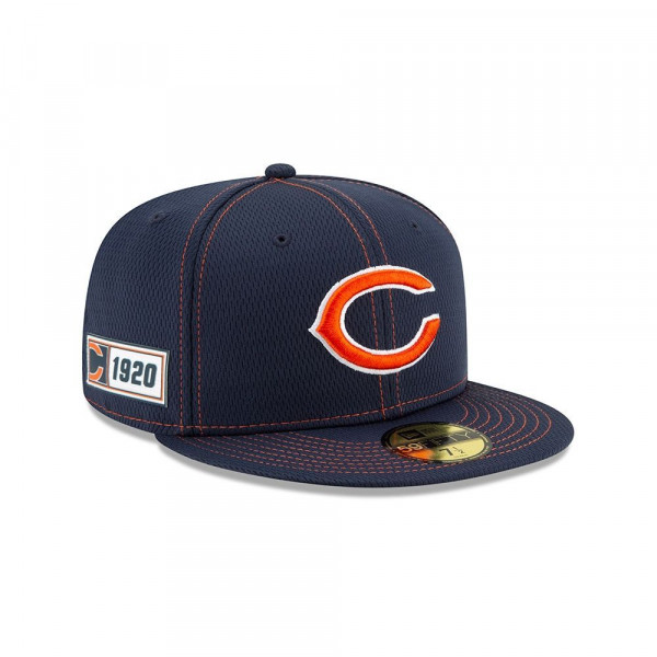 Chicago Bears 2019 NFL On-Field Sideline 59FIFTY Fitted Cap Road