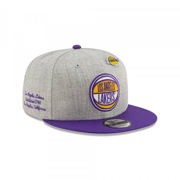 Los Angeles Lakers 2019 NBA Draft 9FIFTY Snapback Cap Heather Grey