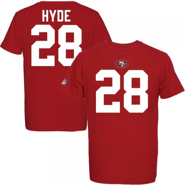Carlos Hyde #28 San Francisco 49ers Eligible Receiver NFL T-Shirt