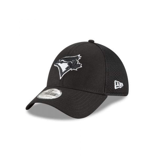 Toronto Blue Jays Black & White Neo 39Thirty Stretch Fit MLB Cap