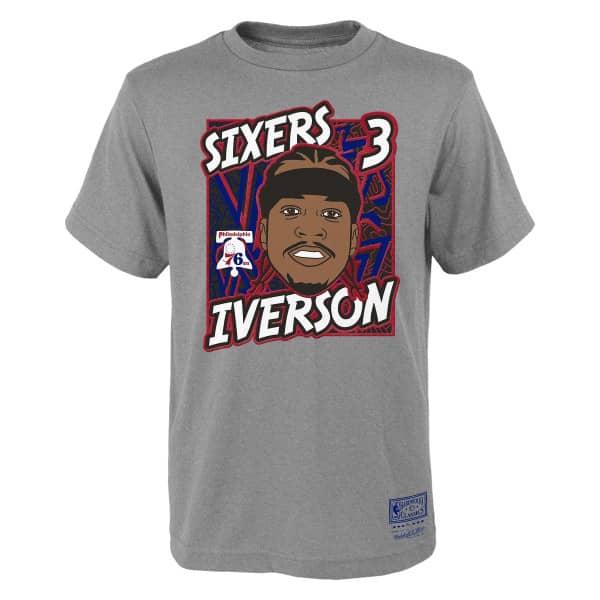 Allen Iverson Philadelphia 76ers Court King Youth NBA T-Shirt (KINDER)