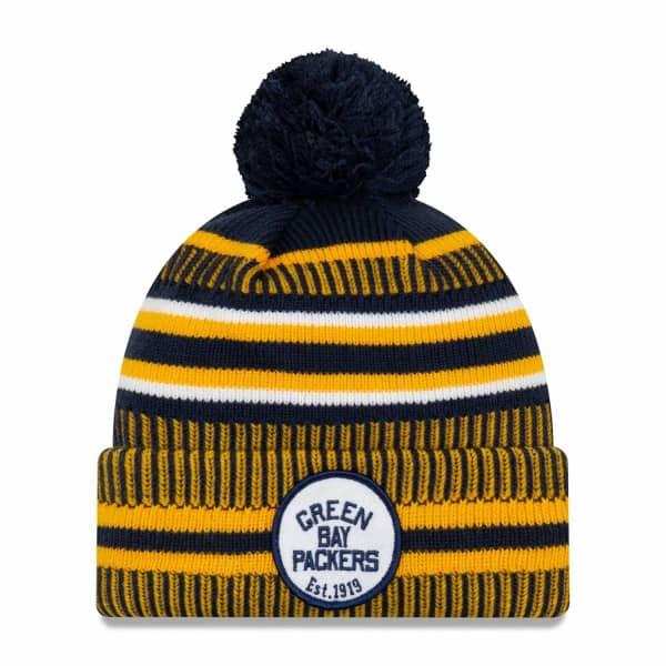 Green Bay Packers Throwback 2019 NFL Sideline Sport Knit Wintermütze Home