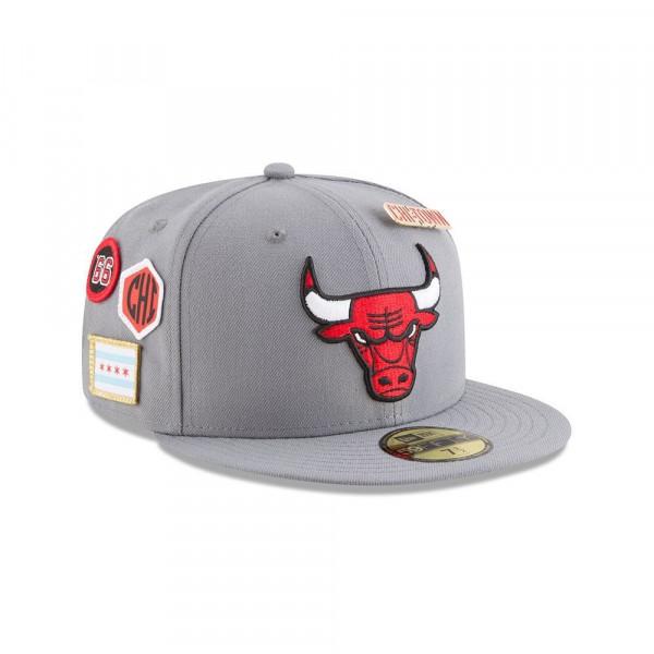 New Era Chicago Bulls 2018 NBA Draft 59FIFTY Fitted Cap Storm Grey ... c2d550879e6b