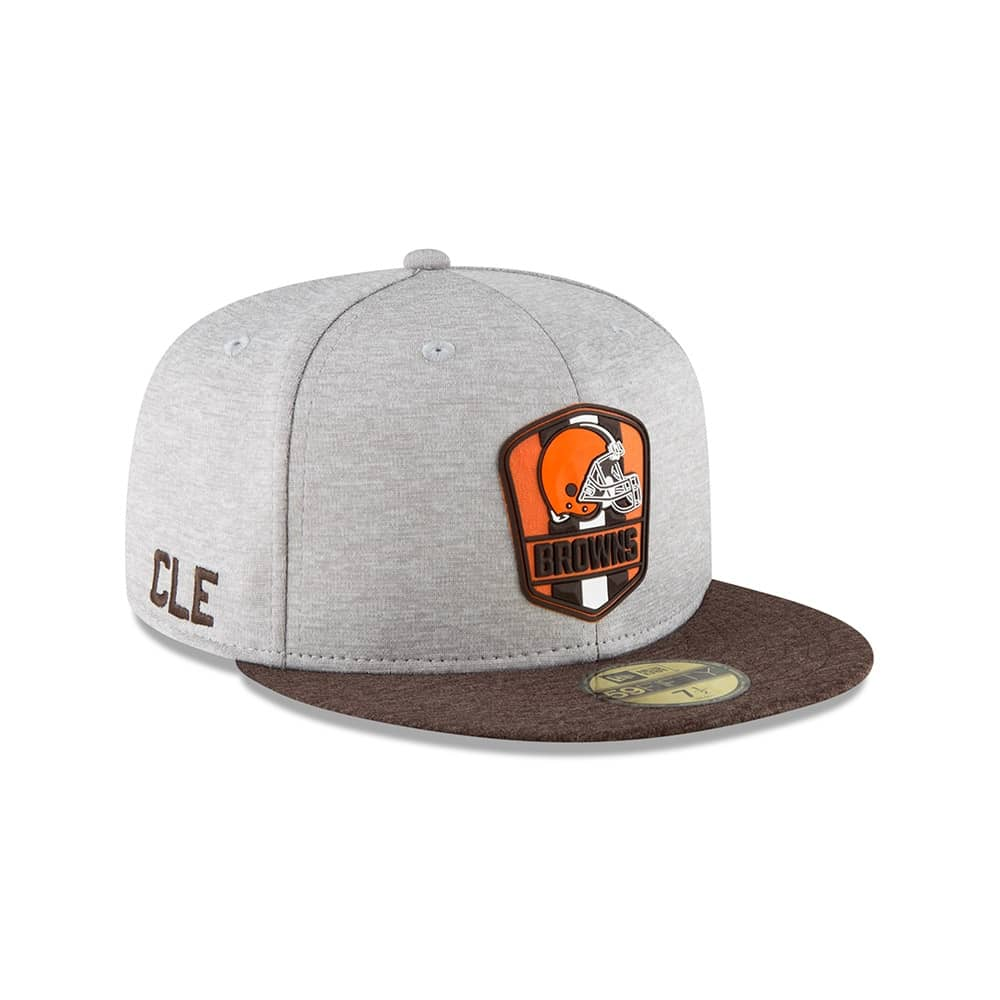 New Era Cleveland Browns 2018 NFL Sideline 59FIFTY Fitted Cap Road ... d216890c9