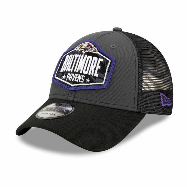 Baltimore Ravens Official 2021 NFL Draft New Era 9FORTY Adjustable Cap