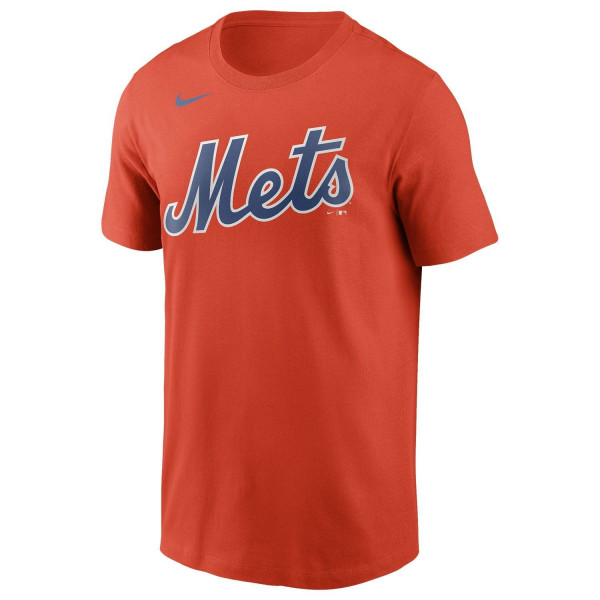 New York Mets Wordmark Nike MLB T-Shirt Orange