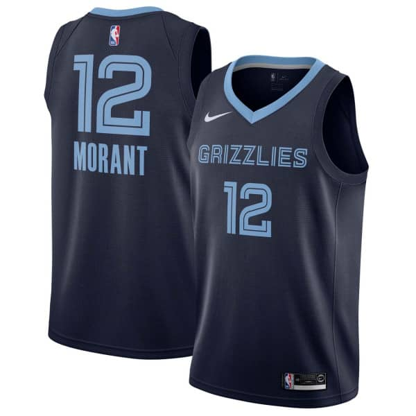 Ja Morant #12 Memphis Grizzlies Icon Swingman NBA Trikot Navy