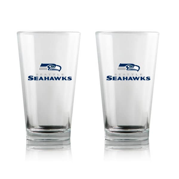 Seattle Seahawks Highball NFL Pint Glas Set (2 Stk.)