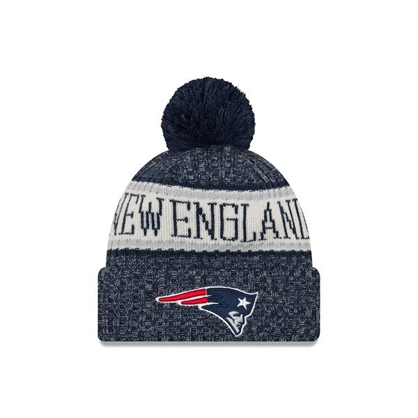 New Era New England Patriots 2018 Sideline Sport Knit NFL Knit Hat ... 53e1cdede