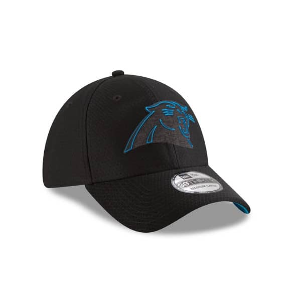 quality design 42367 1c39e New Era Carolina Panthers 2018 NFL Training 39THIRTY Cap Black   TAASS.com  Fan Shop