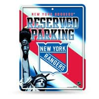 New York Rangers Reserved Parking NHL Metallschild