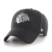 Chicago Blackhawks Black & White MVP Snapback NHL Cap