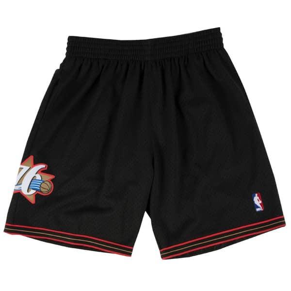 Philadelphia 76ers 2000-01 Mitchell & Ness Swingman NBA Shorts Schwarz