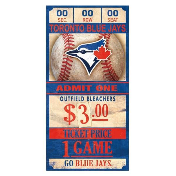 Toronto Blue Jays MLB Ticket Schild