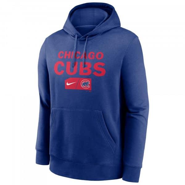Chicago Cubs Lettering Nike Club Fleece MLB Hoodie Blau
