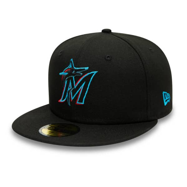 Miami Marlins Authentic 59FIFTY Fitted MLB Cap Road