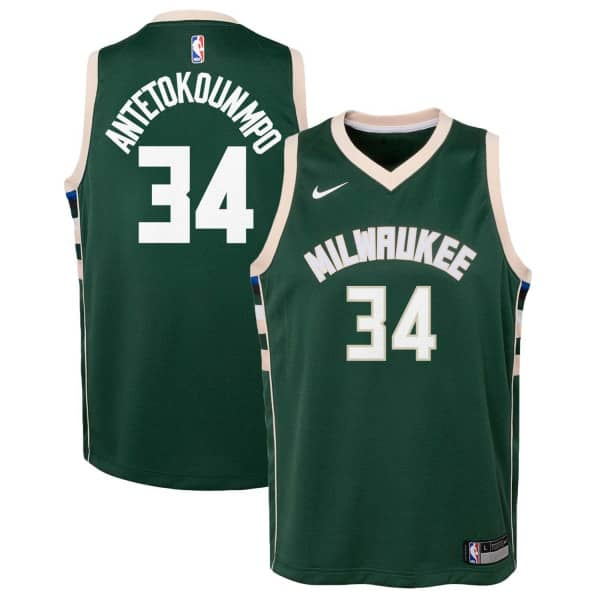 e9a04dc6b75 Nike Giannis Antetokounmpo #34 Milwaukee Bucks Youth Swingman NBA Jersey  Green | TAASS.com Fan Shop