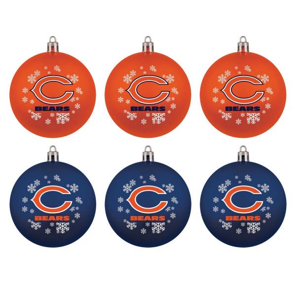 Chicago Bears NFL Weihnachtskugeln Geschenk-Set (6-Teilig)