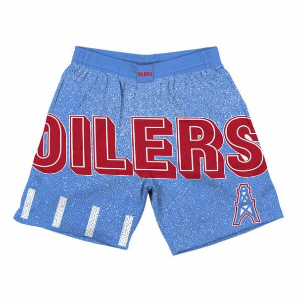 Houston Oilers Jumbotron Throwback Mitchell & Ness NFL Shorts Blau