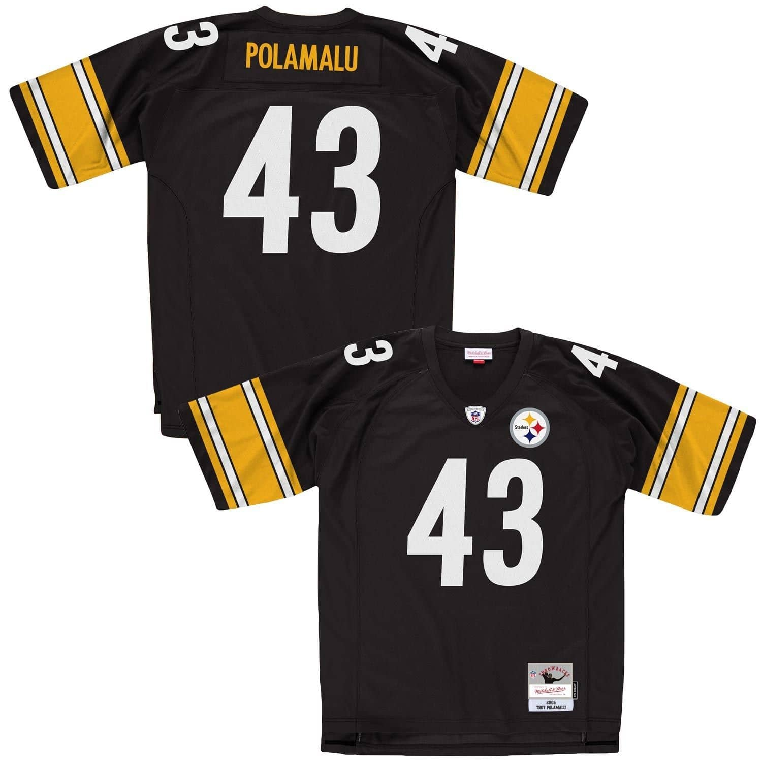 new styles 01588 1e3b9 Troy Polamalu #43 Pittsburgh Steelers Legacy Throwback NFL Jersey