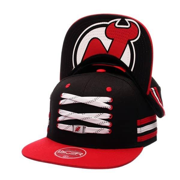 Zephyr New Jersey Devils Lacer Locker Room Snapback NHL Cap  a65fc06bb