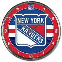 New York Rangers Chrome NHL Wanduhr