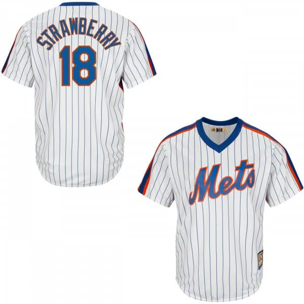 Darryl Strawberry #18 New York Mets Cool Base MLB Trikot