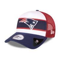 New England Patriots Retro Stripe New Era Adjustable NFL Trucker Cap
