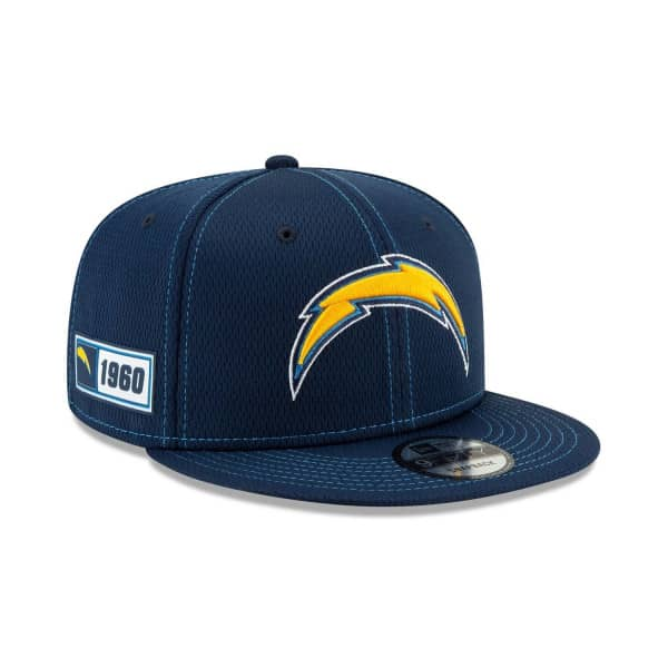 Los Angeles Chargers 2019 NFL On-Field Sideline 9FIFTY Snapback Cap Road